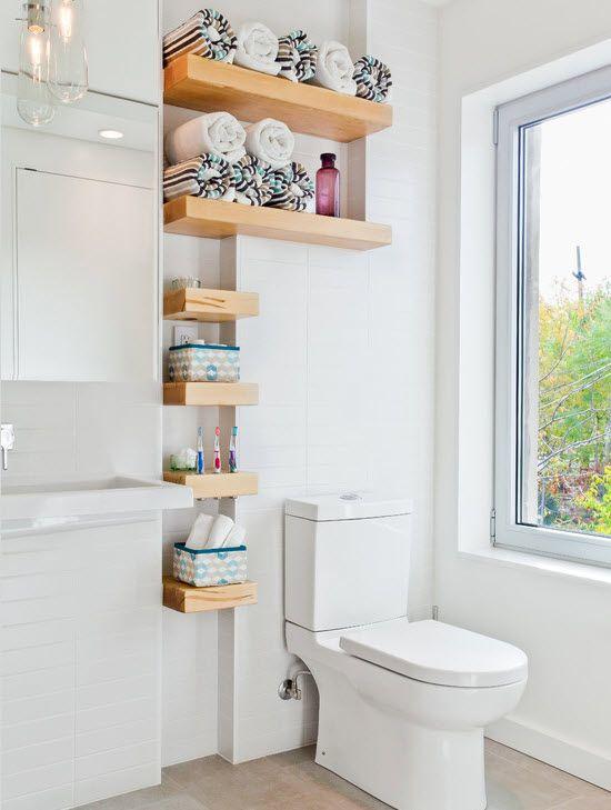 Полочки в ванной комнате