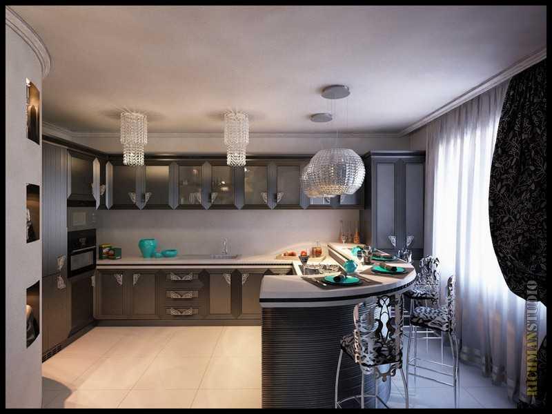 Кухня арт-деко студия