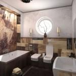 Арт-Деко дизайн интерьера ванной фото