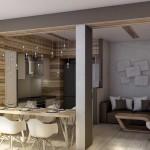 Совмещенная кухня гостиная