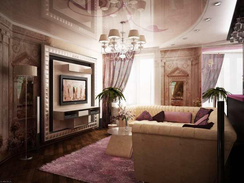 Дизайн гостиная арт-деко