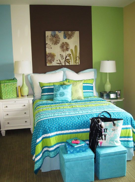 Бирюзовый цвет комната для девочки