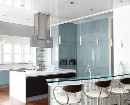 Кухонный фасад из стекла фото в интерьере