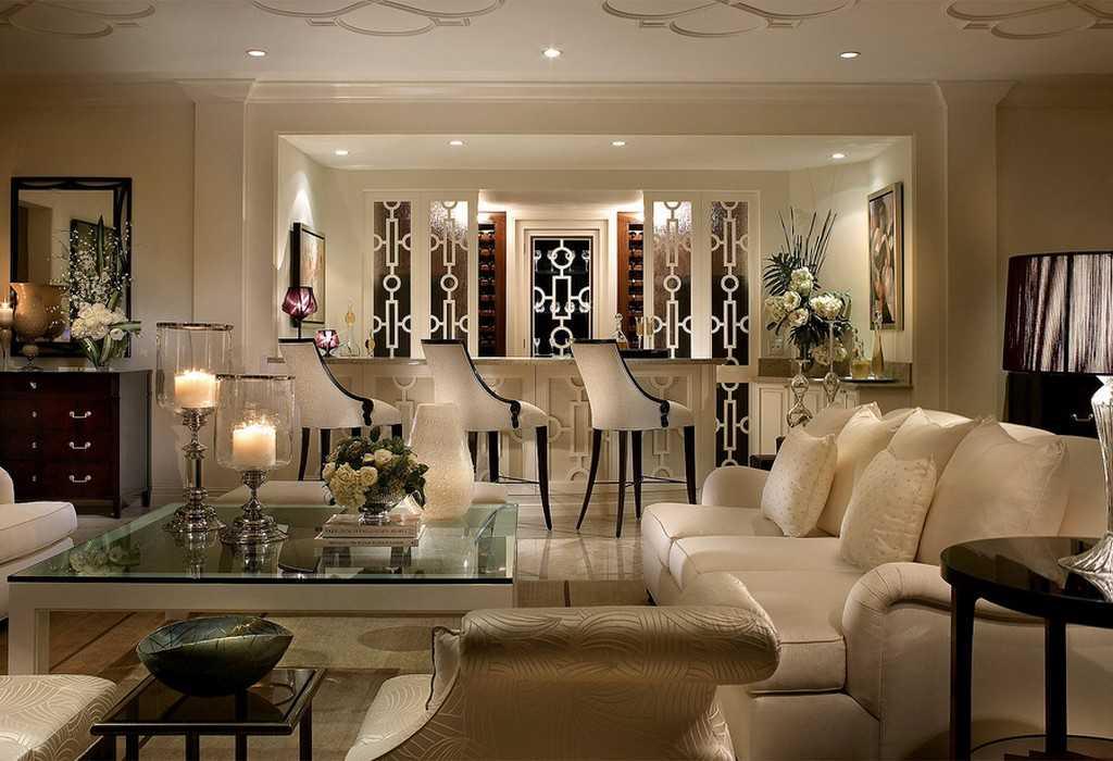 Интерьере гостиной арт-деко фото и описание