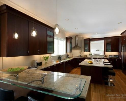 Красивое оформление кухни фото в интерьере