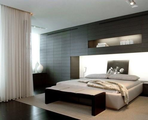 Стиль минимализм в спальной комнате
