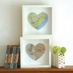 Карта из сердечек