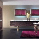 Розовый цвет на кухне арт-деко
