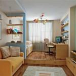Зонирование спальни+гостиной