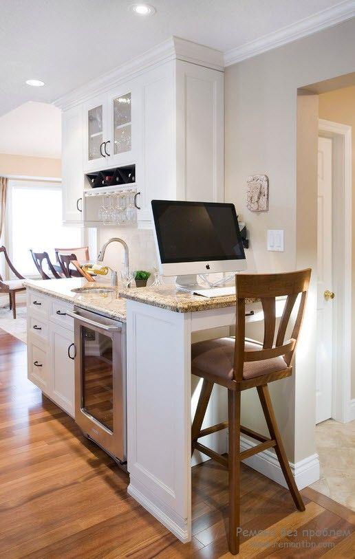 Монитор на кухне