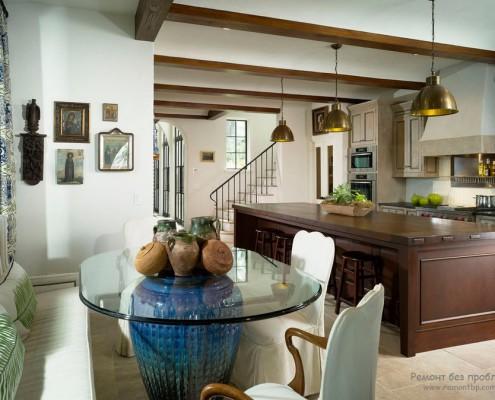 Мебель из стекла на кухне фото