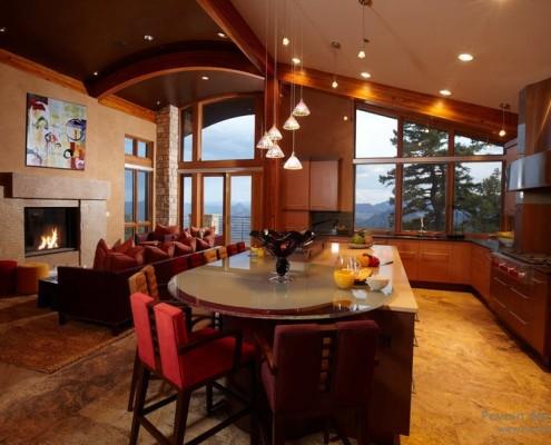 Мебель из стекла на кухне фото в интерьере