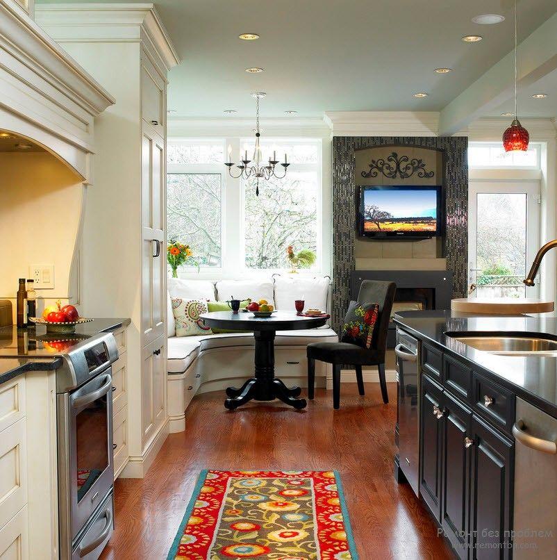 Вариант расстановки мебели на кухне