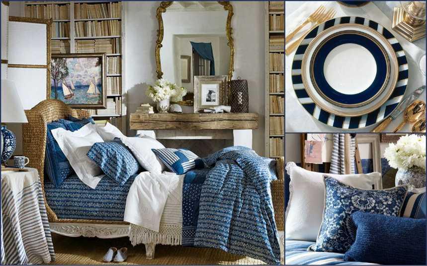 Мебель и текстиль в морском стиле