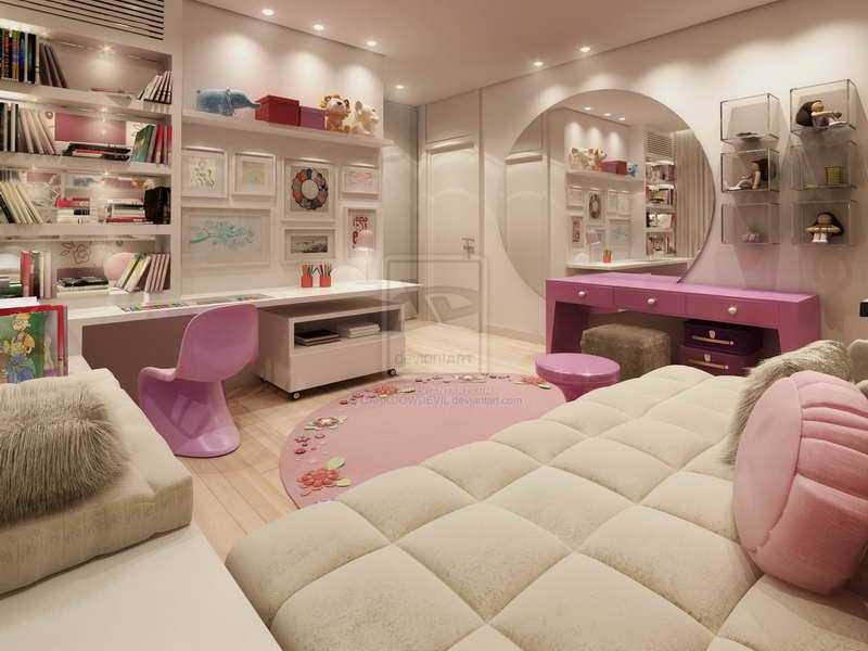 Как обустроить спальню для девочки фото