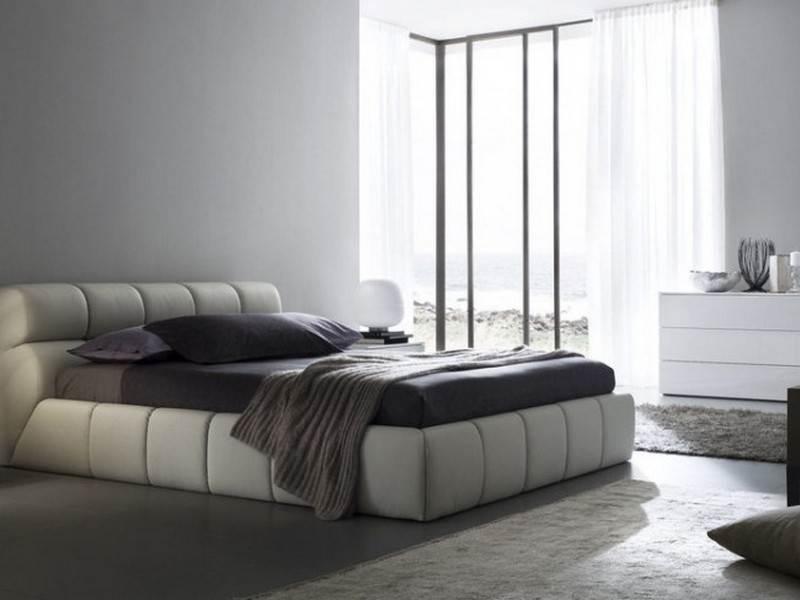 Кровать hi-tech фото в интерьере