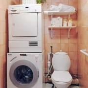 Куда поставить стиральную машинку в маленькой ванной