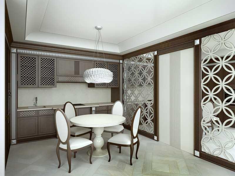 Мраморными столешницами стеклянными поверхностями дополняют стиль арт деко всевозможные вертящаяся столешница