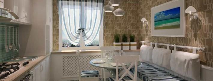 Интерьер комнаты в морском стиле