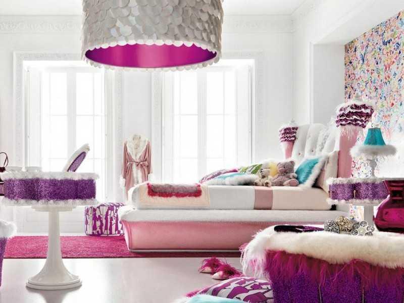 Как обустроить спальню для девочки