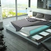 Оформление спальни хай-тек