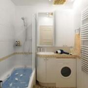 Стиралка в небольшой ванной