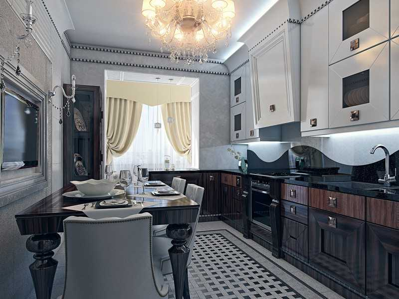 Арт-деко кухня фото