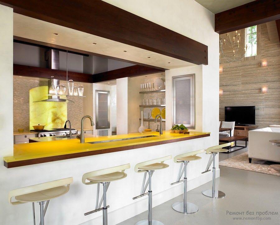Цветная столешница для кухни