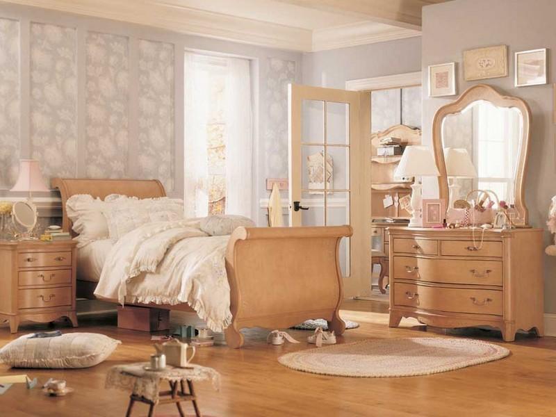"""Спальня мотивы стиля """"винтаж"""" фото"""