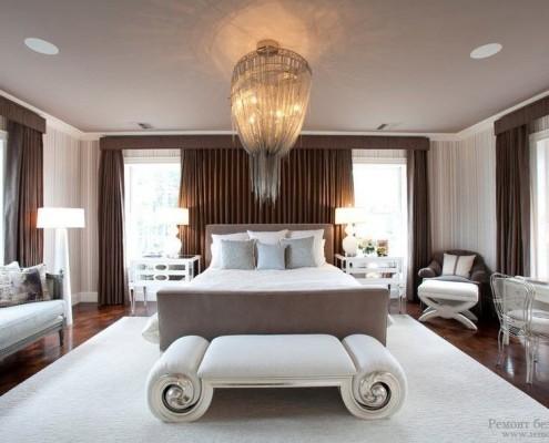 Стильная спальная комната дизайн