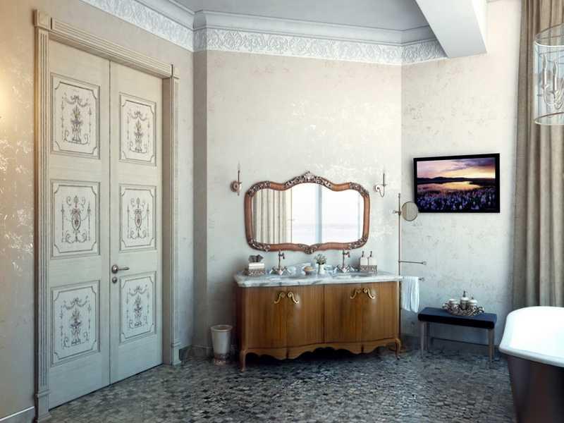 Интерьер винтаж для ванной