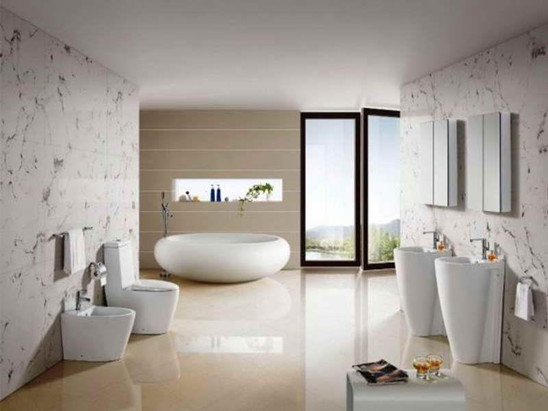 Ванная комната hi-tech интерьер