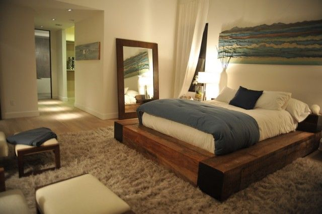 Ковер в интерьере спальни