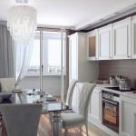 Светлая мебель арт-деко для кухни