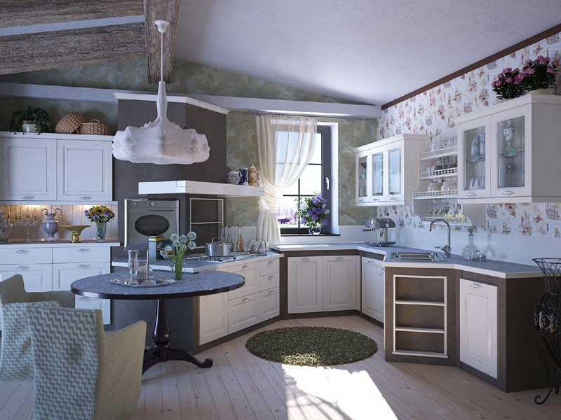 Оформление кухни в стиле винтаж