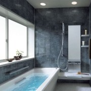 Стиль хай-тек ванная комната фото
