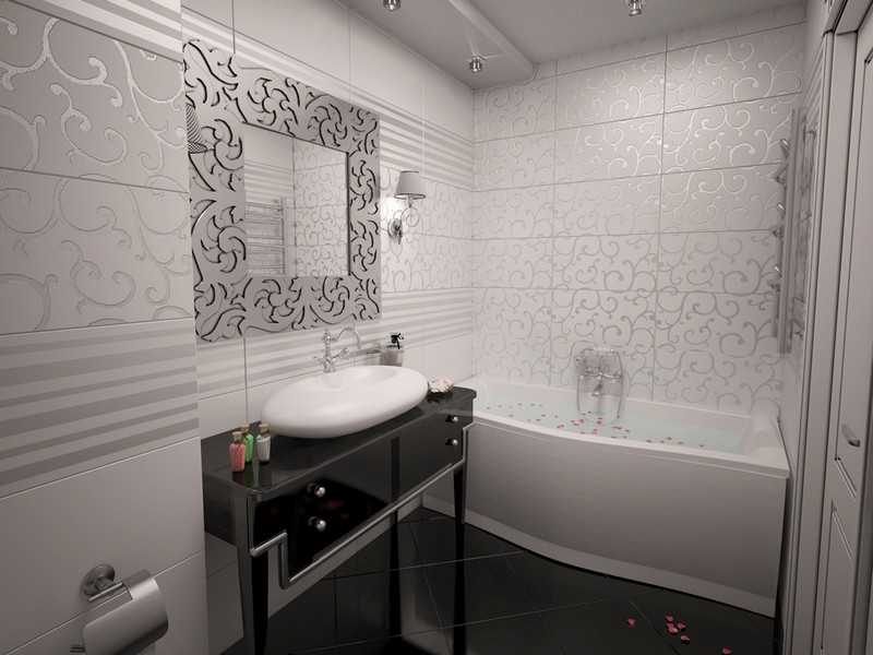 Интерьер ванной арт-деко фото