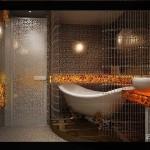 Освещение в ванной Арт-Деко фото
