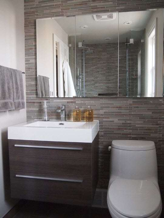 100 for Small family bathroom design
