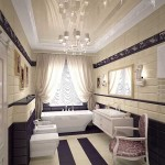 Светлая ванная Арт-Деко