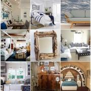 Примеры комнат в морском стиле
