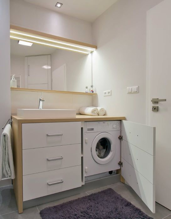Идеи для стиральной машинки в маленькой ванной комнате