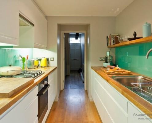 Кухня выполненная из стекла фото в интерьере