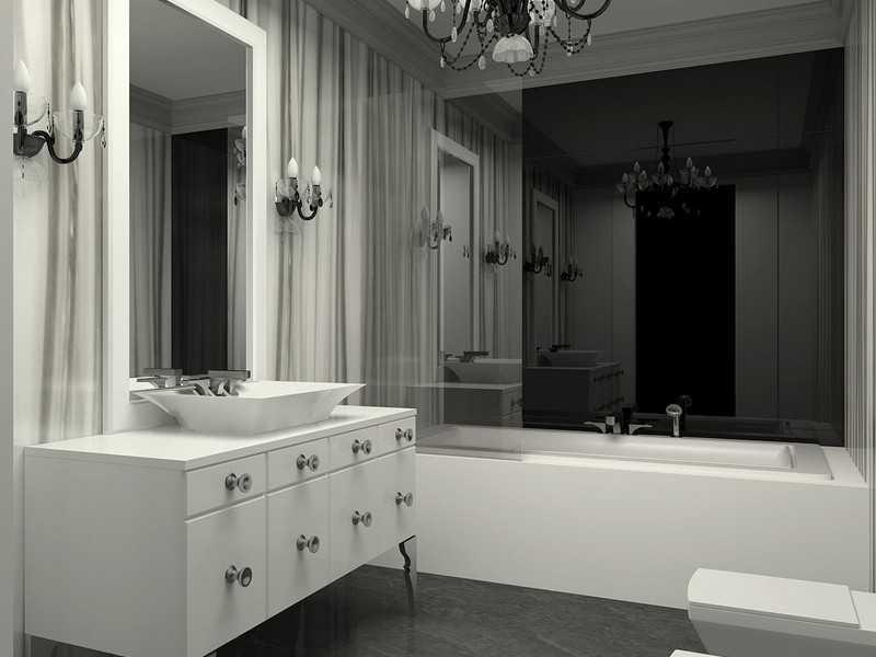 Интерьер ванной арт-деко