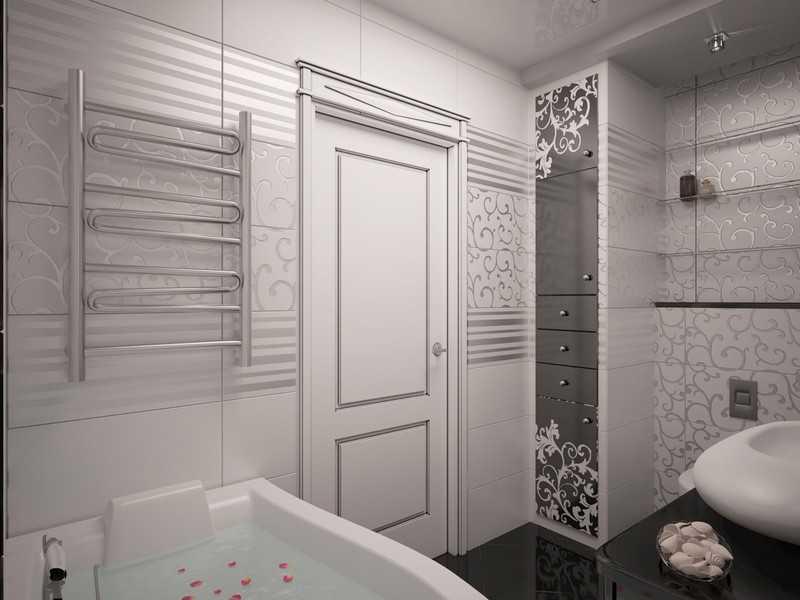 Белая ванная арт-деко