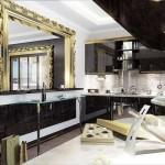 Зеркало в кухне стиль арт-деко