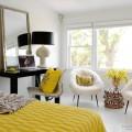 Желтый цвет в спальной комнате