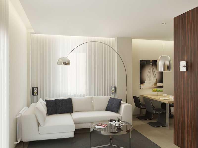 Зонирование гостиной с помощью освещения
