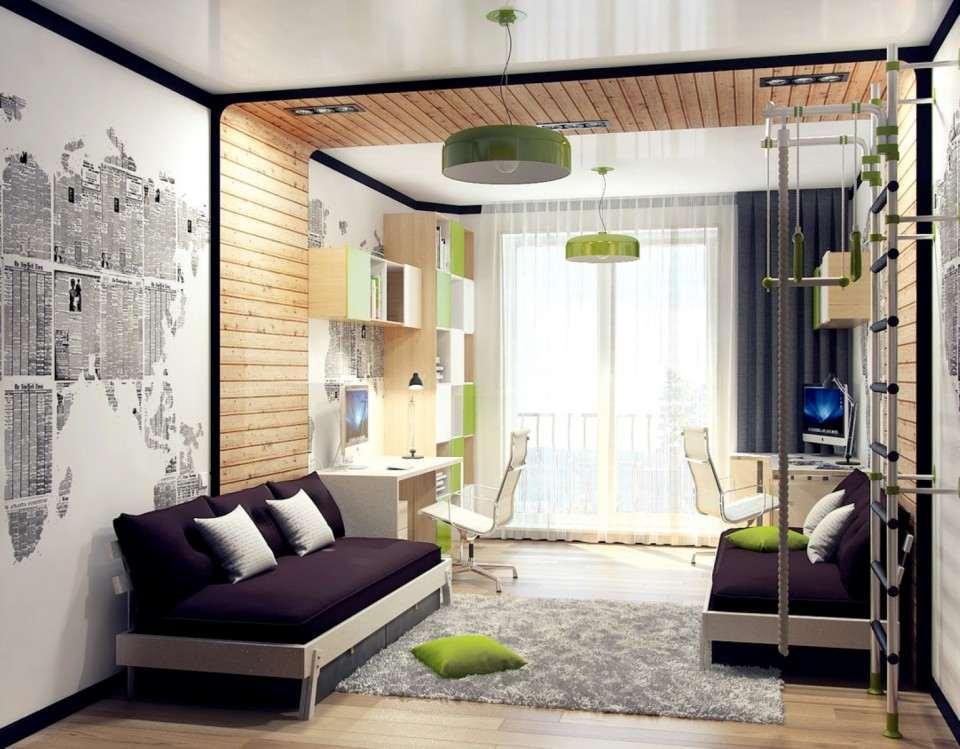 Молодежное оформление спальни