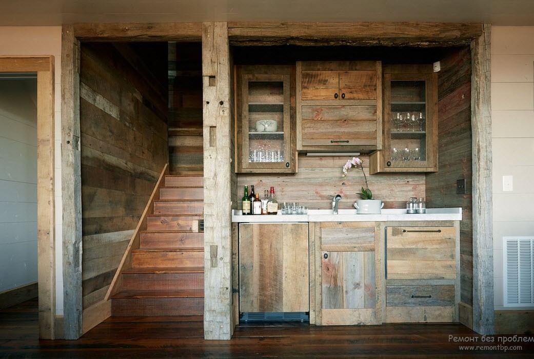 Завершенный стиль деревянного интерьера